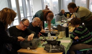 Fixers at a repair cafe