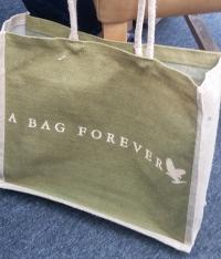"""A bag printed """"A bag forever"""""""