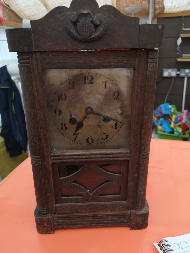 Jim Hadwyn's ornate wooden clock